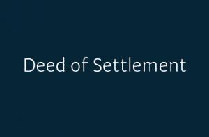 Ngati Rehua Deed Of Settlement